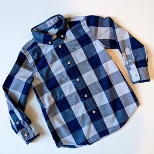 2/$25 Crewcuts blue long sleeve button up